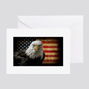Bald Eagle and Fla Greeting Cards