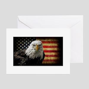 Bald Eagle and Fla Greeting Cards