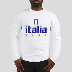 Italia t-shirts 4 Star Italia Soccer Long Sleeve T
