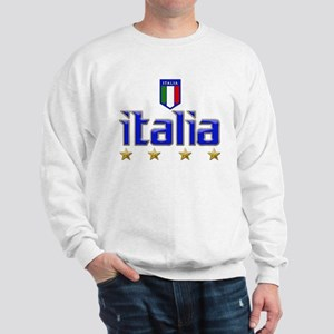 Italia 4 Star Italian Soccer Sweatshirt