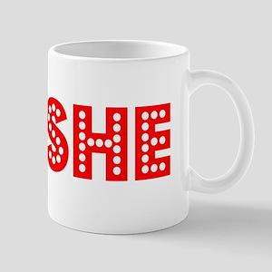 Retro Moshe (Red) Mug