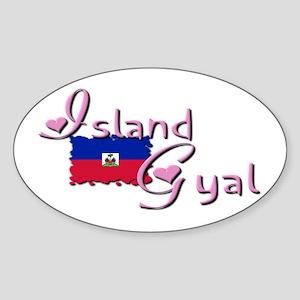Island Gyal - Oval Sticker