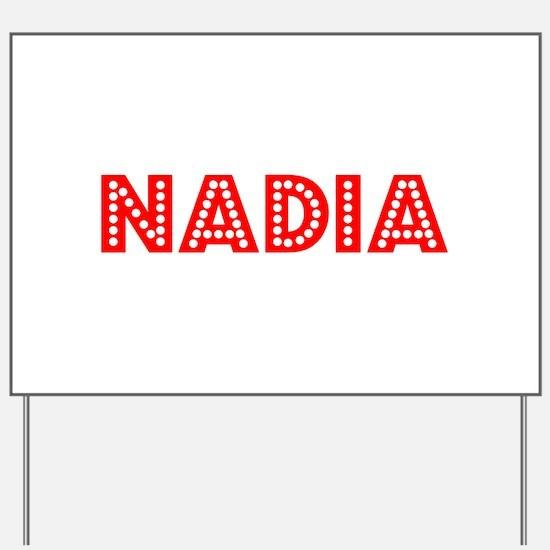 Retro Nadia (Red) Yard Sign