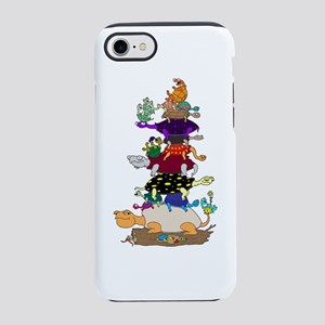 20 Funny Cartoon Turtles Stacked iPhone 8/7 Tough