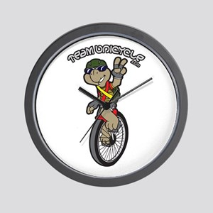 Team Unicycle Wall Clock