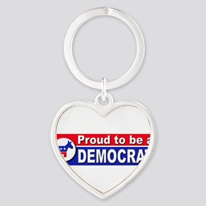 ProudDemocratA-Bumper Keychains