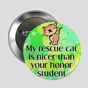 Nice rescue cat Button