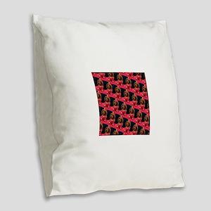 Doxie Dachshund Dear 4Dory Burlap Throw Pillow