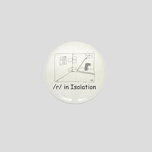 R in isolation Mini Button