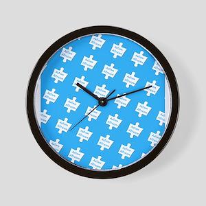 Blue Practice Autism Altruism 4Frank Wall Clock