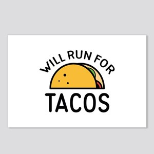 Will Run For Tacos Postcards (Package of 8)