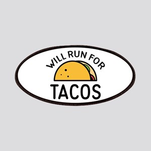 Will Run For Tacos Patches