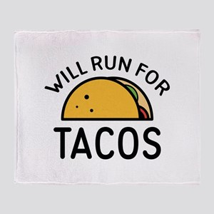 Will Run For Tacos Stadium Blanket