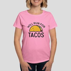 Will Run For Tacos Women's Dark T-Shirt
