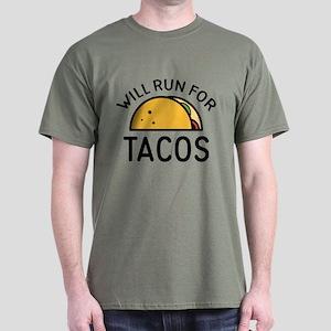 Will Run For Tacos Dark T-Shirt