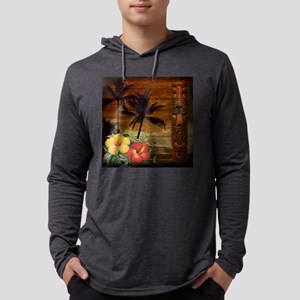 totem Hawaiian Hibiscus Flower Long Sleeve T-Shirt