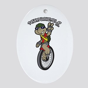 Team Unicycle Oval Ornament