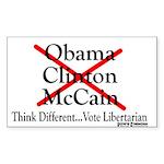 Libertarian Rectangle Sticker 50 pk)
