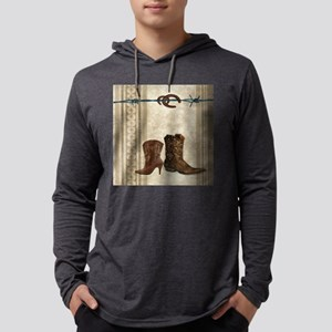 primitive western cowboy boots Long Sleeve T-Shirt