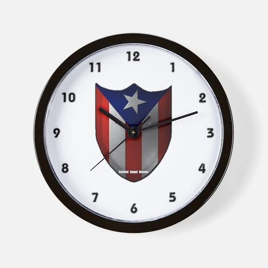 Puerto Rican Shield Wall Clock