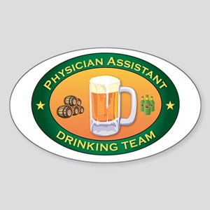 Physician Assistant Team Oval Sticker