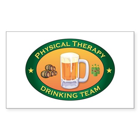 Physical Therapy Team Rectangle Sticker