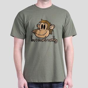 I'm a smart monkey Dark T-Shirt