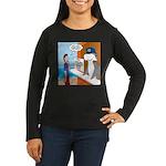 Free Shark SCUBA Women's Long Sleeve Dark T-Shirt
