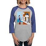 Free Shark SCUBA Dive Womens Baseball Tee