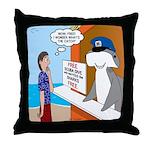 Free Shark SCUBA Dive Throw Pillow