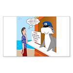 Free Shark SCUBA Dive Sticker (Rectangle)