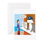 Free Shark SCUBA Dive Greeting Cards (Pk of 10)