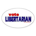 Libertarian Oval Sticker (10 pk)