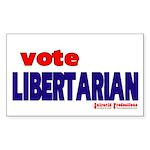 Libertarian Rectangle Sticker 10 pk)