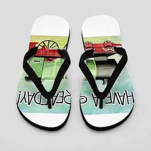 Train Happy Birthday Flip Flops