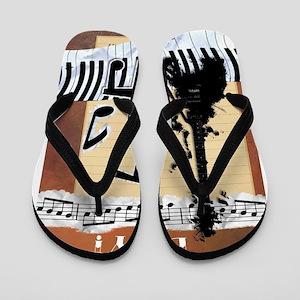 Musical Cello Happy Birthday Flip Flops