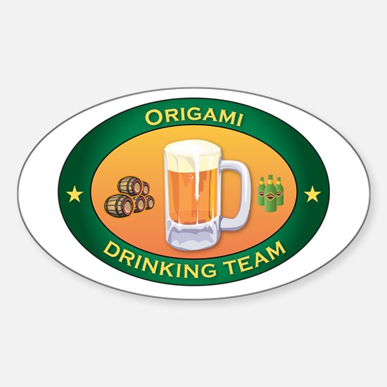 Origami Team Oval Decal