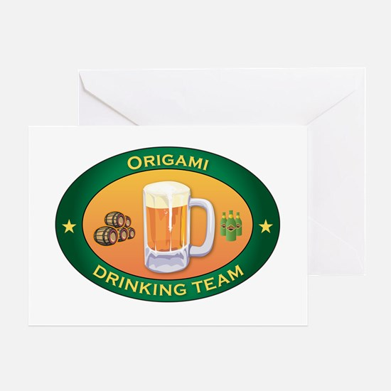 Origami Team Greeting Card