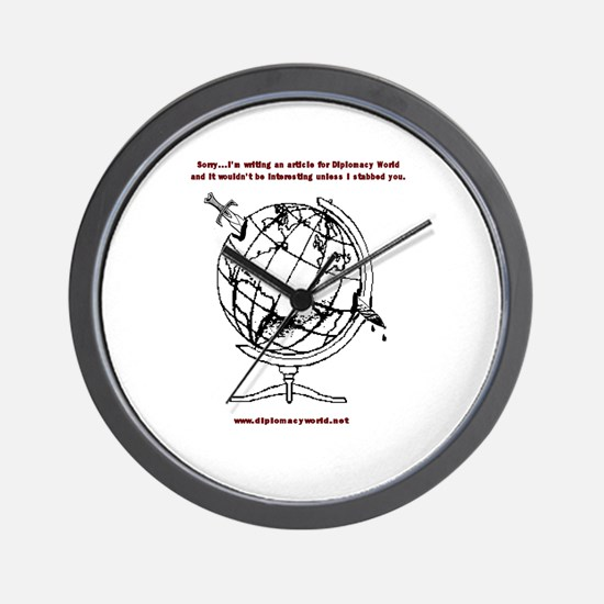Writing For Diplomacy World Wall Clock