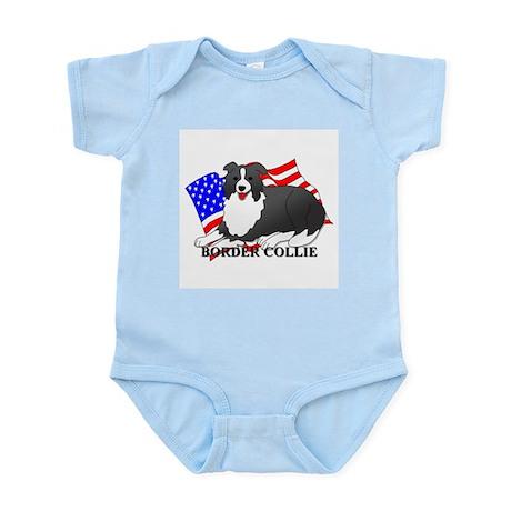 Border Collie USA Infant Bodysuit