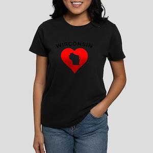 Wisconsin Heart Cutout T-Shirt