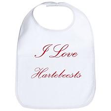 I Love Hartebeests Bib
