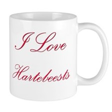 I Love Hartebeests Mug