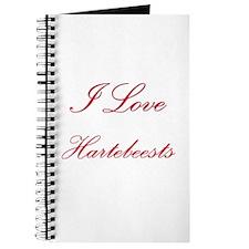 I Love Hartebeests Journal