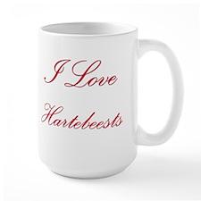 I Love Hartebeests Large Mug