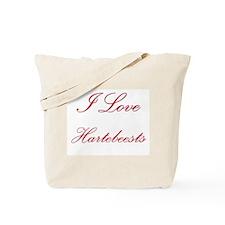 I Love Hartebeests Tote Bag