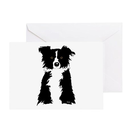 Border Collie Greeting Card by piolott_collie