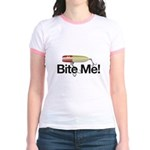Fishing - Bite Me! Jr. Ringer T-Shirt