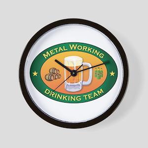 Metal Working Team Wall Clock