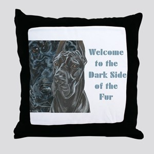 Darkside of the Fur Throw Pillow